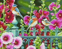 "Картина по номерам ""Ворота мальвы"" (280х360 мм; арт. 91490-73-DMS)"