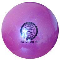 Мяч для художественной гимнастики (фиолетовый с блестками)