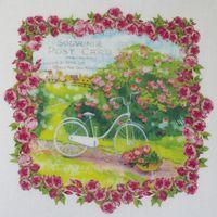 """Купон """"Винтажный велосипед в рамке из роз"""""""
