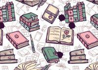 """Открытка """"Любовь к книгам"""""""