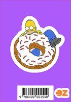 """Глянцевая наклейка """"Симпсоны. Гомер на пончике"""" (арт. 154)"""