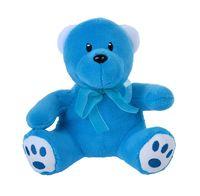 """Мягкая игрушка """"Медвежонок. Для тебя"""" (18 см; голубой)"""