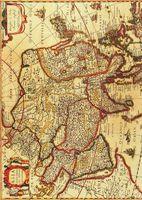 """Бумага для декупажа рисовая """"Старинная карта мира"""" №2 (210х300 мм)"""