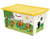 """Ящик для хранения игрушек """"Три кота. Игры"""" (арт. LA1527)"""