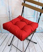 """Подушка на стул """"Monochrome"""" (40х40 см; бордовая)"""