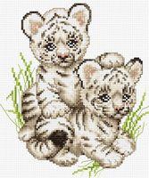 """Вышивка крестом """"Тигрята"""" (165х195 мм)"""