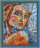 """Алмазная вышивка-мозаика """"Витражный портрет"""" (400х500 мм)"""
