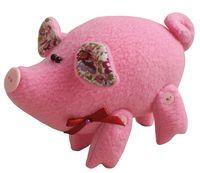 """Набор для шитья из ткани """"Розовый поросёнок"""""""