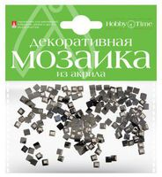 Мозаика декоративная из акрила №15 (4х4 мм; 200 шт.; черный)