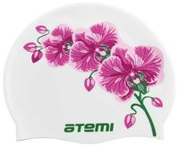 Шапочка для плавания (белая; цветок; арт. PSC415)