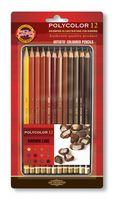 """Набор карандашей цветных """"Polycolor"""" (12 цветов; коричневые оттенки)"""