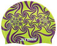 Шапочка для плавания (салатовая; узор; арт. PSC416)