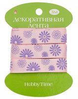 """Лента атласная """"Цветы"""" (15 мм; 3 м)"""