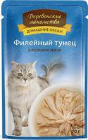 """Пресервы для кошек """"Домашние обеды"""" (70 г; филейный тунец)"""