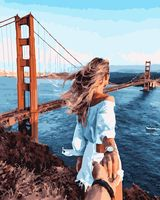 "Картина по номерам ""Следуй за мной. Мост Золотые Ворота"" (400х500 мм)"