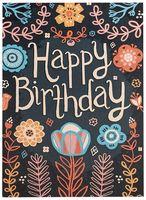 """Открытка """"Happy Birthday"""" (929)"""