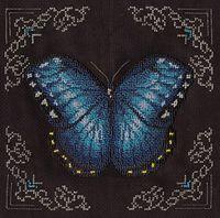 """Вышивка бисером """"Голубая бабочка"""""""