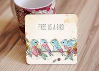 "Подставка под кружку ""Free as a bird"" (art. 47)"