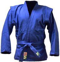 Куртка для самбо JS-302 (р. 0/130; синяя)