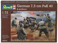 """Сборная модель """"Орудие German 7,5 cm Pak 40 с фигурками солдат"""" (масштаб: 1/72)"""