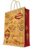 """Пакет бумажный подарочный """"Самолеты и дирижабли"""" (26х32,4х12,7 см; арт. 44190)"""