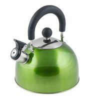 Чайник металлический со свистком (2,15 л; зеленый металлик)