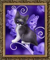 "Алмазная вышивка-мозаика ""Необычный котенок"" (400х500 мм)"