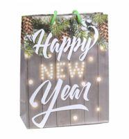 """Пакет бумажный подарочный """"Happy New Year"""" (23х27х8 см)"""