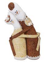 """Набор для шитья из ткани """"Коты-обнимашки. Золотые"""""""