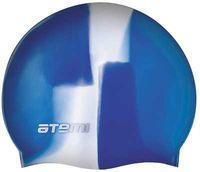 Шапочка для плавания (бело-синяя; арт. MC208)