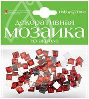 Мозаика декоративная из акрила №21 (8х8 мм; 100 шт.; красный)