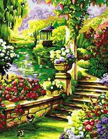 "Картина по номерам ""Цветущий парк"" (400x500 мм; арт. MG099)"