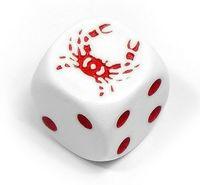 """Кубик D6 """"Крабик"""" (белый)"""