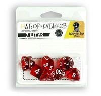 """Набор кубиков """"Прозрачный"""" (7 шт.; красный)"""