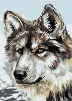 """Картина по номерам """"Серый волк"""" (210х297 мм)"""