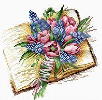 "Вышивка крестом ""Запах книжных страниц"" (180х180 мм)"