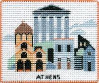 "Вышивка крестом ""Афины"" (90х70 мм; на магните)"