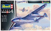 """Сборная модель """"Британский истребитель Vampire F Mk.3"""" (масштаб: 1/72)"""