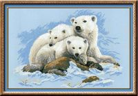"""Вышивка крестом """"Белые медведи"""" (арт. 1033)"""