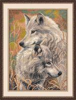 """Вышивка крестом """"Волчья верность"""" (300x400 мм)"""