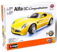 """Модель машины """"Bburago. Alfa 8C Competizione"""" (масштаб: 1/18; арт. 18-15042)"""