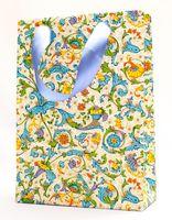 """Пакет бумажный подарочный """"Fruits and Flowers"""" (23,5х17х7 см)"""