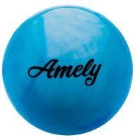 Мяч для художественной гимнастики AGB-101 (19 см; синий/белый)