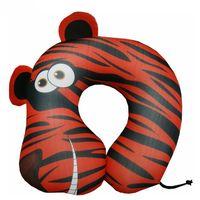 """Подушка под шею """"Тигр"""" (оранжевая)"""