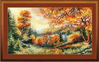 "Вышивка крестом ""Багряный лес"" (410х230 мм)"
