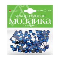 Мозаика декоративная из акрила №24 (8х8 мм; 100 шт.; синий)