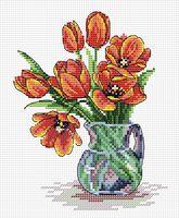 """Вышивка крестом """"Весенние тюльпаны"""""""