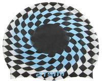 Шапочка для плавания (чёрно-белая; клетка; арт. PSC421)