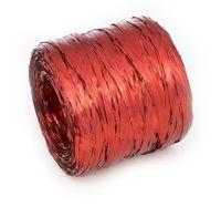 Рафия декоративная (2 м; металлизированная красная)