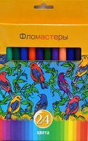 """Фломастеры """"Солнечный креатив"""" в картонной коробке (24 цвета)"""